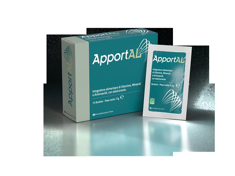 apportal - packaging di prodotto con scatola e bustina